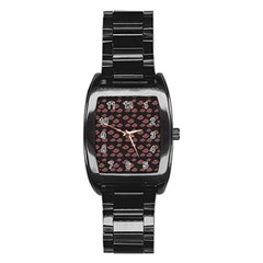 Cloud Red Brown Stainless Steel Barrel Watch by Mariart