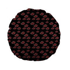 Cloud Red Brown Standard 15  Premium Flano Round Cushions by Mariart
