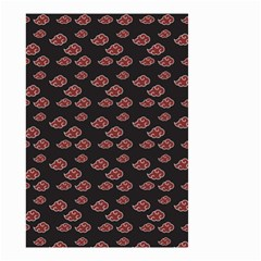 Cloud Red Brown Small Garden Flag (two Sides) by Mariart