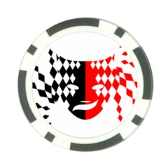 Face Mask Red Black Plaid Triangle Wave Chevron Poker Chip Card Guard (10 Pack) by Mariart