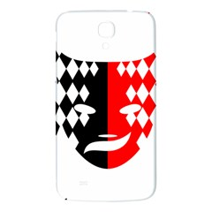 Face Mask Red Black Plaid Triangle Wave Chevron Samsung Galaxy Mega I9200 Hardshell Back Case by Mariart