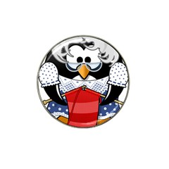 Grandma Penguin Hat Clip Ball Marker (4 Pack) by Nexatart