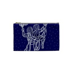 Gemini Zodiac Star Cosmetic Bag (small)  by Mariart