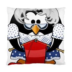 Grandma Penguin Standard Cushion Case (one Side) by Nexatart