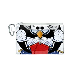 Grandma Penguin Canvas Cosmetic Bag (s) by Nexatart