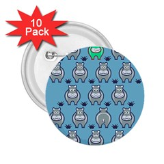 Funny Cow Pattern 2 25  Buttons (10 Pack)  by Nexatart