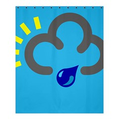 Light Rain Shower Cloud Sun Yellow Blue Sky Shower Curtain 60  X 72  (medium)  by Mariart