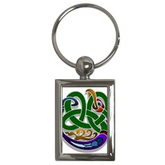 Celtic Ornament Key Chains (rectangle)  by Nexatart