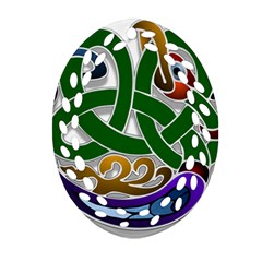 Celtic Ornament Ornament (oval Filigree) by Nexatart