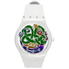 Celtic Ornament Round Plastic Sport Watch (m) by Nexatart