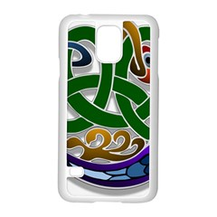 Celtic Ornament Samsung Galaxy S5 Case (white) by Nexatart