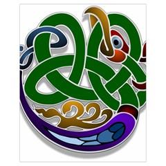 Celtic Ornament Drawstring Bag (small) by Nexatart