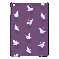 Goose Swan Animals Birl Origami Papper White Purple Ipad Air Hardshell Cases by Mariart