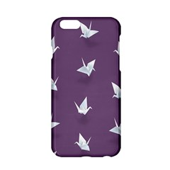 Goose Swan Animals Birl Origami Papper White Purple Apple Iphone 6/6s Hardshell Case by Mariart