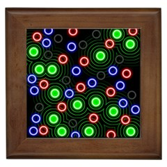 Neons Couleurs Circle Light Green Red Line Framed Tiles by Mariart