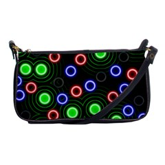 Neons Couleurs Circle Light Green Red Line Shoulder Clutch Bags by Mariart