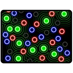 Neons Couleurs Circle Light Green Red Line Fleece Blanket (large)  by Mariart