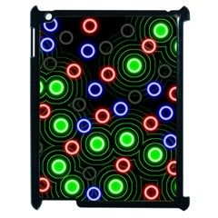 Neons Couleurs Circle Light Green Red Line Apple Ipad 2 Case (black) by Mariart