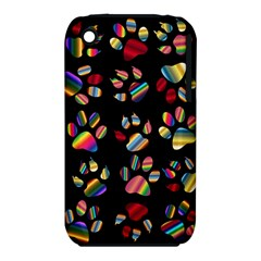 Colorful Paw Prints Pattern Background Reinvigorated Iphone 3s/3gs by Nexatart