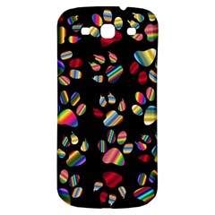 Colorful Paw Prints Pattern Background Reinvigorated Samsung Galaxy S3 S Iii Classic Hardshell Back Case by Nexatart