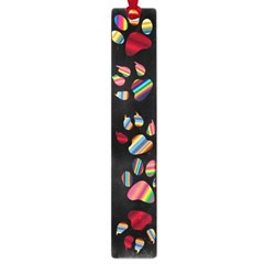 Colorful Paw Prints Pattern Background Reinvigorated Large Book Marks by Nexatart