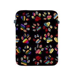 Colorful Paw Prints Pattern Background Reinvigorated Apple Ipad 2/3/4 Protective Soft Cases by Nexatart