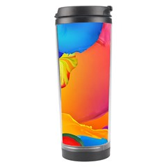 Paint Rainbow Color Blue Red Green Blue Purple Travel Tumbler by Mariart