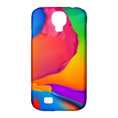 Paint Rainbow Color Blue Red Green Blue Purple Samsung Galaxy S4 Classic Hardshell Case (pc+silicone) by Mariart