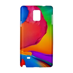 Paint Rainbow Color Blue Red Green Blue Purple Samsung Galaxy Note 4 Hardshell Case by Mariart