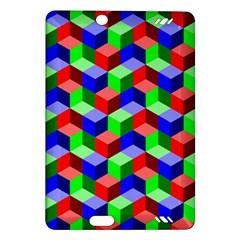 Seamless Rgb Isometric Cubes Pattern Amazon Kindle Fire Hd (2013) Hardshell Case by Nexatart