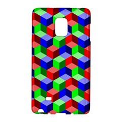 Seamless Rgb Isometric Cubes Pattern Galaxy Note Edge by Nexatart