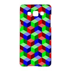 Seamless Rgb Isometric Cubes Pattern Samsung Galaxy A5 Hardshell Case  by Nexatart