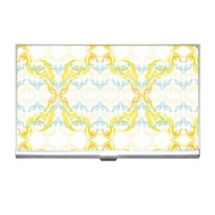 Crane White Yellow Bird Eye Animals Face Mask Business Card Holders by Mariart