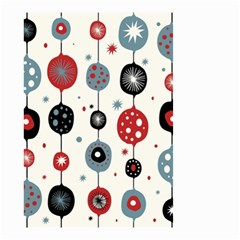 Retro Ornament Pattern Small Garden Flag (two Sides) by Nexatart