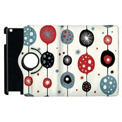 Retro Ornament Pattern Apple Ipad 2 Flip 360 Case by Nexatart