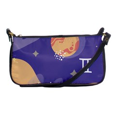 Planet Galaxy Space Star Polka Meteor Moon Blue Sky Circle Shoulder Clutch Bags by Mariart