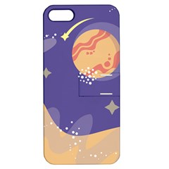 Planet Galaxy Space Star Polka Meteor Moon Blue Sky Circle Apple Iphone 5 Hardshell Case With Stand by Mariart