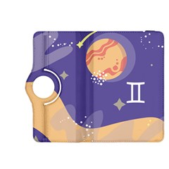 Planet Galaxy Space Star Polka Meteor Moon Blue Sky Circle Kindle Fire Hdx 8 9  Flip 360 Case by Mariart