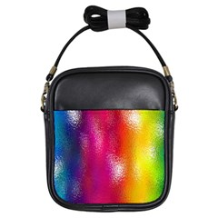 Color Glass Rainbow Green Yellow Gold Pink Purple Red Blue Girls Sling Bags by Mariart