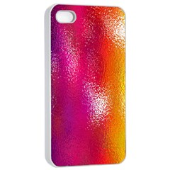 Color Glass Rainbow Green Yellow Gold Pink Purple Red Blue Apple Iphone 4/4s Seamless Case (white) by Mariart