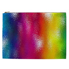 Color Glass Rainbow Green Yellow Gold Pink Purple Red Blue Cosmetic Bag (xxl)  by Mariart