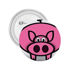 Pork Pig Pink Animals 2 25  Buttons by Mariart