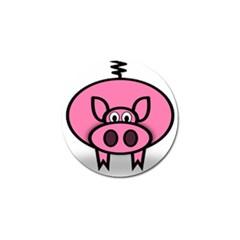 Pork Pig Pink Animals Golf Ball Marker by Mariart