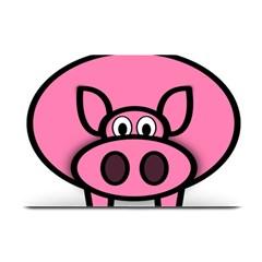 Pork Pig Pink Animals Plate Mats by Mariart