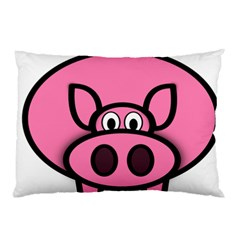 Pork Pig Pink Animals Pillow Case by Mariart