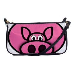 Pork Pig Pink Animals Shoulder Clutch Bags by Mariart