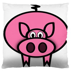 Pork Pig Pink Animals Large Cushion Case (two Sides) by Mariart