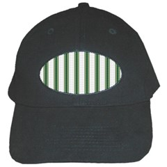 Plaid Line Green Line Vertical Black Cap by Mariart