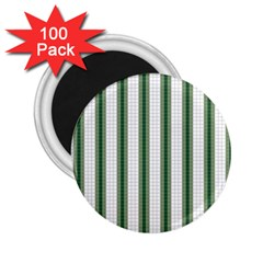 Plaid Line Green Line Vertical 2 25  Magnets (100 Pack)  by Mariart