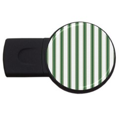 Plaid Line Green Line Vertical Usb Flash Drive Round (2 Gb) by Mariart